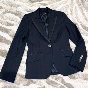 H&M Blazer Black Pinstripe Fancy Suit Jacket